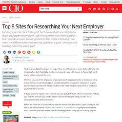 Top 8 Sites for Researching Your Next Employer