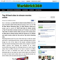 Top 20 best sites to stream movies online