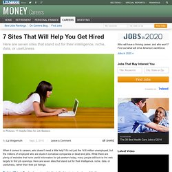 7 Sites That Will Help You Get Hired