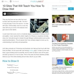 10 Sites That Will Teach You How To Draw Well