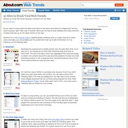 10 Sites to Track Viral Web Trends