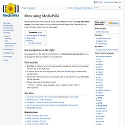 Sites using MediaWiki