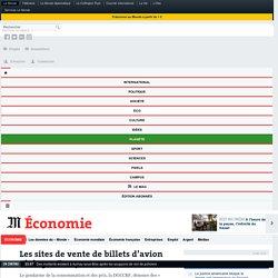 Les sites de vente de billets d'avion visés par Bercy