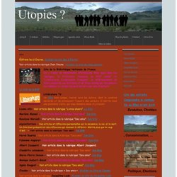 Sites à visiter - utopies-dd jimdo page!