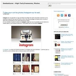 7 sites pour voir les photos Instagram sur le web