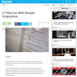 17 Sites for Web Design Inspiration