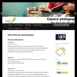Sites Web de mathématique