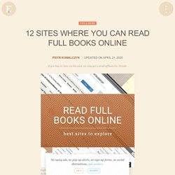 12 sites where you can read full books online