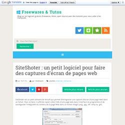 Logiciel - Capture d'écran de pages web