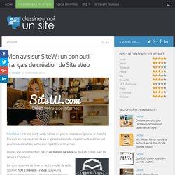 Mon avis sur SiteW - test et revue complète de l'outil en ligne