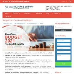 Nirmala Sitharaman Explains Budget 2021 Top Level Highlights