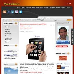 Siti web dove trovare idee per l'uso dell'iPad in classe