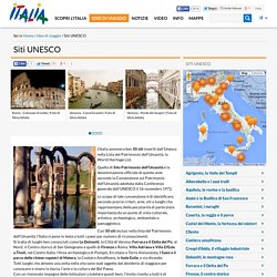 Siti UNESCO - italia map