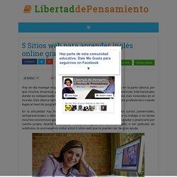5 Sitios web para aprender inglés online gratuitamente