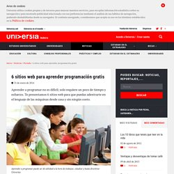 6 sitios web para aprender programación gratis