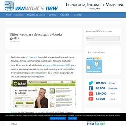 Sitios web para descargar e-books gratis