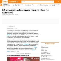 20 sitios para descargar música libre de derechos