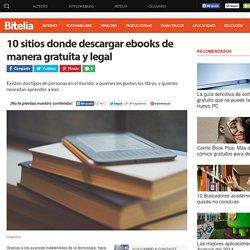 Sitios donde descargar ebooks gratis y de manera legal