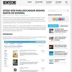Sitios web para descargar eBooks Gratis Español
