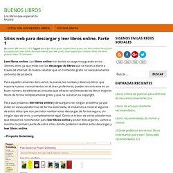 Sitios web para descargar y leer libros online. Parte 1 - Buenos Libros