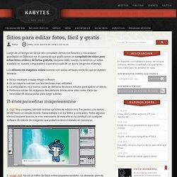 Sitios para editar fotos, fcil y gratis