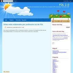 Sitios webs elaborados por profesores/as de FOL