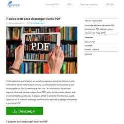 7 sitios web increíbles para descargar libros PDF gratis