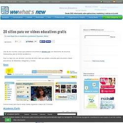 20 sitios para ver vídeos educativos gratis