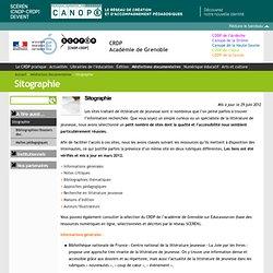 Sitographie - CRDP Académie de Grenoble