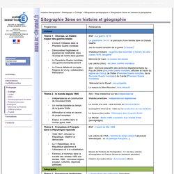 Sitographie 3ème en histoire et géographie