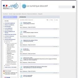 Sitographie - Le numérique éducatif -