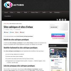 Sitographie des sites satiriques et sites d'infaux