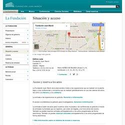 Situación y acceso — Información