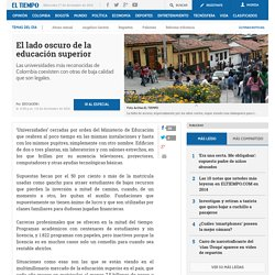Situación de la educación superior en Colombia - Especiales
