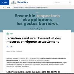 Situation sanitaire du Covid 19 à Marseille