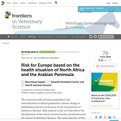 FRONT. VET. SCI. 15/08/19 Risk for Europe based on the health situation of North Africa and the Arabian Peninsula