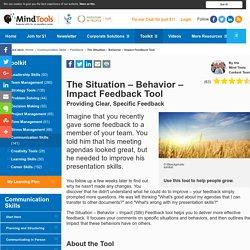 The Situation-Behavior-Impact-Feedback Tool