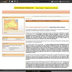 Opex: la situation de la force Sangaris en Centrafrique