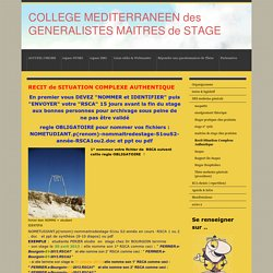 Recit Situation Complexe Authentique - collegemediterraneenmdss jimdo page!