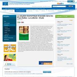 La situation économique et sociale dans les Pays Baltes : La Lettonie - Etude