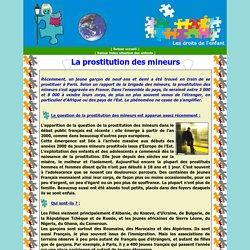 La situation des enfants en France : la prostitution des mineurs