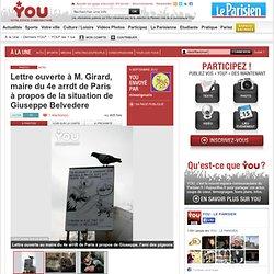 Lettre ouverte à M. Girard, maire du 4e arrdt de Paris à propos de la situation de Giuseppe Belvedere
