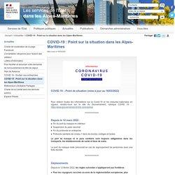 COVID-19 : Point sur la situation dans les Alpes-Maritimes / Actualités
