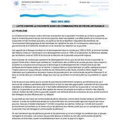 La situation mondiale des pêches et de l'aquaculture, 2002 (SOFIA) Table des Matières