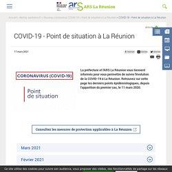 COVID-19 - Point de situation à La Réunion
