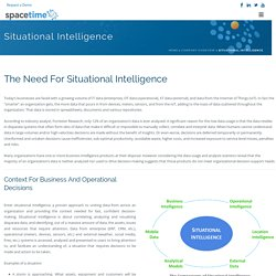 Situational Intelligence for asset intensive industries