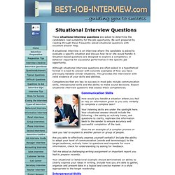situational questions for interview