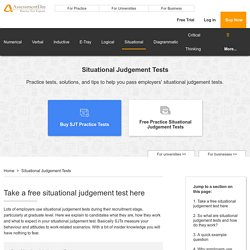 Situational Judgement Test, Free Example SJT Test with Solutions