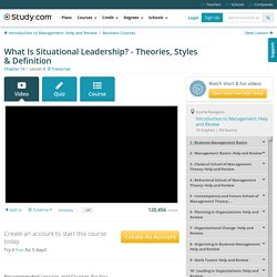 What Is Situational Leadership? - Theories, Styles & Definition