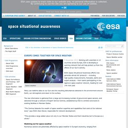 Europe comes together for space weather / Space Situational Awareness / Operations